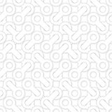 Modèle géométrique simple abstrait de vecteur - formes enlacées sur le wh Photo stock