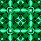 Modèle géométrique vert de la place en cristal Photographie stock