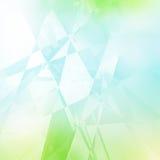 Modèle géométrique vert et bleu Photo stock
