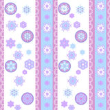 Modèle gai de flocons de neige avec la dentelle Images libres de droits