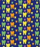 Modèle gai des dents multicolores Belle texture illustration stock