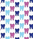 Modèle gai des dents multicolores Texture pour des dentistes illustration stock