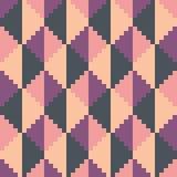Modèle geomatric abstrait sans couture de diamant de rose de pixel Image libre de droits