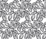 Modèle graphique décoratif avec des feuilles Photo libre de droits
