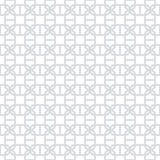 Modèle gris-clair et blanc géométrique décoratif sans couture abstrait Photographie stock