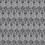Modèle gris de répétition de texture d'ananas de vecteur Approprié à l'enveloppe, au textile et au papier peint de cadeau illustration libre de droits