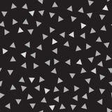 Modèle gris et noir de triangle Fond sans joint de vecteur Images stock