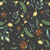 Modèle gris floral Image libre de droits