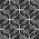 Modèle gris sans couture géométrique abstrait de vecteur avec des places Images stock