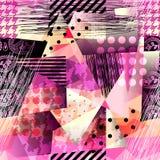 Modèle grunge dans le style de cubisme illustration de vecteur