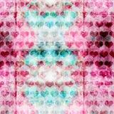 Modèle grunge de coeur Images stock
