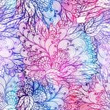 Modèle grunge floral sans couture de gradient Image libre de droits