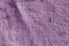 Modèle hessois de tissu de sac à couleur violette Images stock