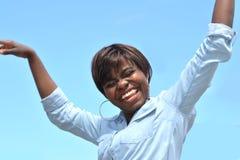 Modèle heureux Photos libres de droits