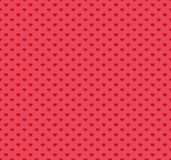Modèle heureux de jour de valentines avec des coeurs Illustration de vecteur Images stock