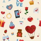 Modèle heureux de Saint-Valentin illustration libre de droits