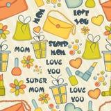 Modèle heureux du jour de mère avec le divers élément Photo libre de droits