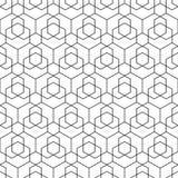 Modèle hexagonal sans couture de vecteur - dessin géométrique Fond dernier cri abstrait Texture créative de grille illustration libre de droits