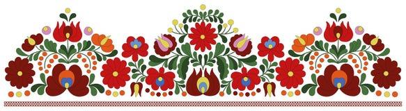 Modèle hongrois de frontière de broderie illustration stock