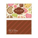 Modèle horizontal de cadre de biscuits colorés de vecteur illustration stock