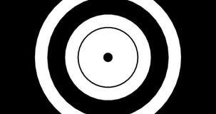 Modèle hypnotique à un arrière-plan noir illustration libre de droits