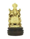 Modèle imploré par ivoire d'éléphant d'empereur s'asseyant d'isolement sur le fond blanc Images stock