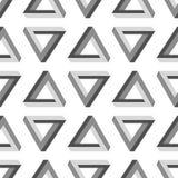 Modèle impossible sans couture de triangle Photographie stock libre de droits
