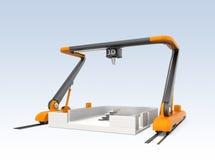 Modèle industriel de maison d'impression de l'imprimante 3D Photos stock