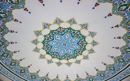 Modèle islamique d'art de plafond d'une mosquée turque Image libre de droits