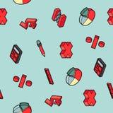 Modèle isométrique d'ensemble de couleur d'algèbre Photographie stock libre de droits