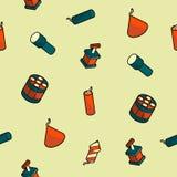 Modèle isométrique d'ensemble de couleur de pyrotechnie illustration libre de droits