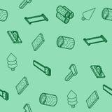 Modèle isométrique d'ensemble plat de bûcheron Photographie stock libre de droits