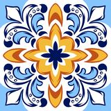 Modèle italien de carreau de céramique Ornement folklorique ethnique illustration stock