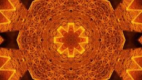 Modèle jaune d'ordre de kaléidoscope Fond abstrait de graphiques banque de vidéos