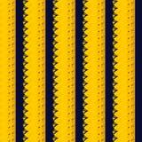 Modèle jaune de feuille de fleur Image libre de droits