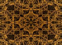 Modèle jaune de kaléidoscope Images libres de droits