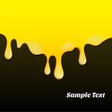 Modèle jaune de peinture à l'huile Image stock
