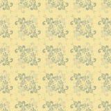 Modèle Jaune-gris floral sans couture dans le rétro style illustration de vecteur