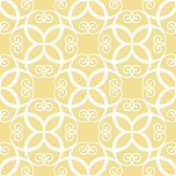 Modèle jaune symétrique sans couture Photo stock