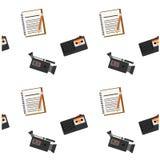 Modèle journalistique d'audiovisuel d'outil Photos stock