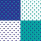 Modèle juif de fond d'étoile illustration stock