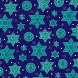 Modèle juif de fond d'étoile d'or bleu illustration libre de droits