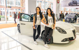 Modèle jumeau Alfa Romeo Giulietta Motor Show Bologna de brune image stock