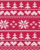 Modèle juste de Noël d'île de vecteur rouge illustration stock
