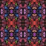 Modèle kaléïdoscopique lumineux abstrait Images stock