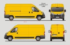 Modèle L3H2 de Citroen Jumper Cargo Van 2017 Photographie stock