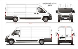 Modèle L4H2 de Van de livraison de cargaison de boxeur de Peugeot 2017 Images stock
