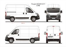 Modèle L1H2 de Van de livraison de cargaison de boxeur de Peugeot 2017 Photo libre de droits