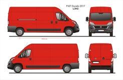 Modèle L3H2 de Van de livraison de cargaison de Fiat Ducato 2017 Photos libres de droits