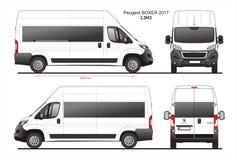 Modèle L3H3 de Van de passager de boxeur de Peugeot 2017 Photographie stock libre de droits
